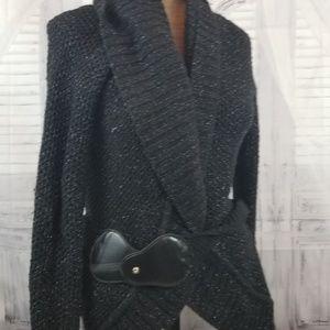 Express sz m L women knit sweater wrap cardigan